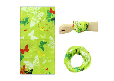 Cina Butterfly Logo Buff Head Wrapow Fiber Properties, Buff Neck Scarf Sublimation Printing Distributor