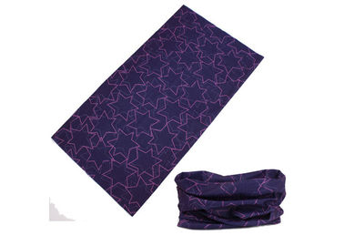 Cina Perikanan Kepala Scarf Five Pointed Star Logo, Fishing Purple Cooling Neck Gaiter pabrik