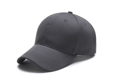 Cina Plain Dark Grey Canvas Baseball Cap 3D Bordir Custom Logo Eco - Friendly pabrik