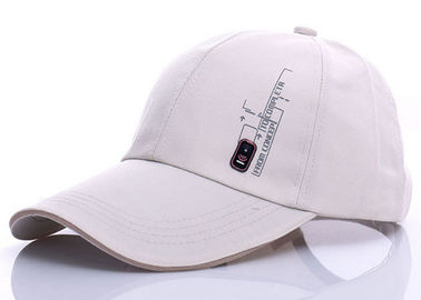 Cina Waxed Canvas Beige White Baseball Cap, Logo Bordir Plain White Baseball Cap pabrik