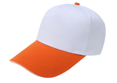 Cina Anak-anak Stylish Baseball Caps Stitching White Dan Orange, Washed Canvas Baseball Hat Distributor
