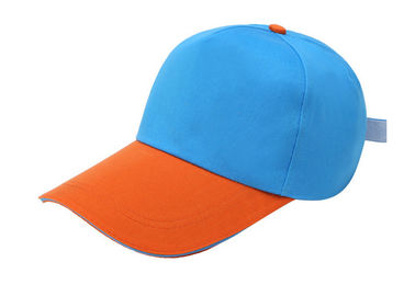 Cina Orange Dan Blue Canvas Baseball Cap Stitching 6 Panel Gaya Busana Soft Touch Distributor