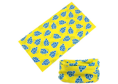 Cina Yellow Travel Original Buff Headwear Good Air Permeability Color Opsional Disesuaikan Distributor