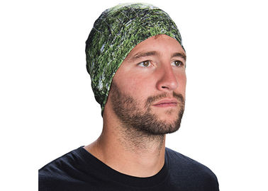 Cina Polyester Soft Fadeless UV Buff Headwear Seamless Breathable With Feather Logo Distributor